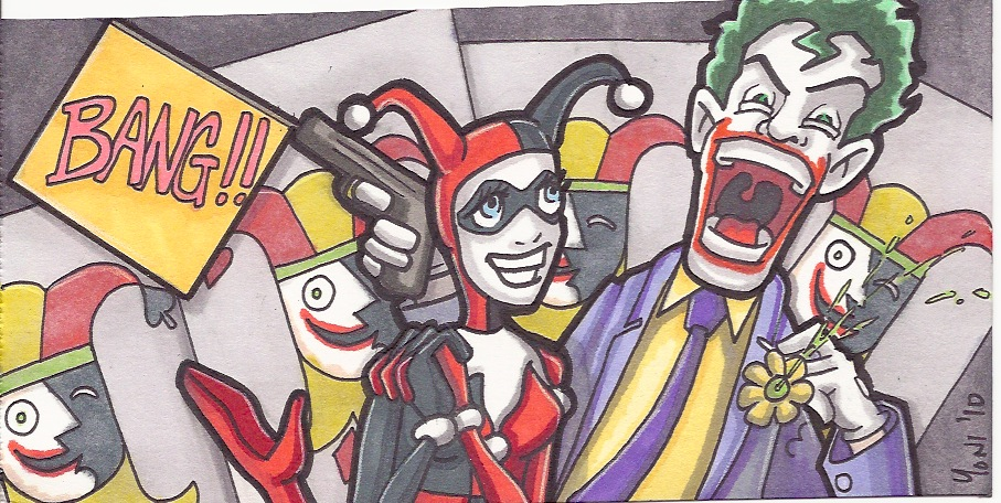 wide - joker and harley (SOLD)